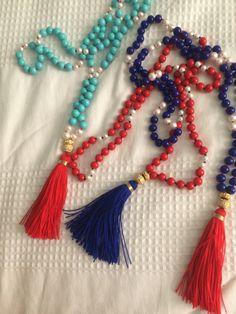 Collar anudado en hilo de seda Tassel Necklace, Tassels, Jewelry, Fashion, Silk Thread, Necklaces, Moda, Jewlery, Jewerly