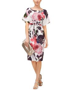 Dresses with sleeves | Multi Chantay Rose Dress | Phase Eight