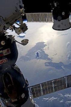Mix a little plume of smoke escaping from Mt. Etna with a little bit of condensation to get this 'map pin' of a cloud over the volcano that began erupting a half million years before the astronauts and cosmonauts on board the International Space Station traveled by 29 August 2013. Credit: NASA