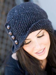 Grace Akhrem Robin Hood Hat Pattern - Knitting and crochet yarn, patterns, knitting bags, needles and notions. Knitting Projects, Crochet Projects, Knit Or Crochet, Crochet Hats, Knitting Patterns, Crochet Patterns, Knitting Ideas, Hood Pattern, Free Pattern