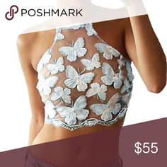 Beautiful and delicate butterfly corset 💖 Beautiful and delicate butterfly corset 💖So elegant yet sexy where alone or with a Jean jacket Sensual Outfitters Tops Crop Tops