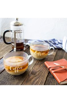 Cathy's Concepts But First Coffee Set of 2 Glass Mugs available at #Nordstrom