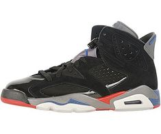 new products 9a829 6152a Nike Mens Air Jordan 6 Retro Pistons BlackVarsity RedTrue Blue Suede  Basketball Shoes Size 115