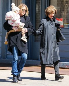 Jenna Bush Hager was photographed out with her daughter Mila and her mother Laura Bush in New York City on Sunday (Mar. Jenna Bush Hager, Laura Bush, Bush Family, Former President, Us Presidents, Family Photos, Families, Laundry, Take That