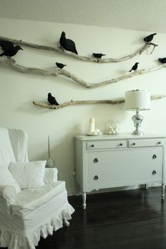 isabella max rooms halloween decor simple chic branches and ravens