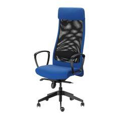 IKEA - MARKUS, Otočná židle, Sonnebo modrá, , Záruka 10 let. Více informací o podmínkách záruky najdete v zárukové brožuře.Díky nastavitelné výšce židle můžete sedět pohodlně.Nastavitelné, v jednotlivých pozicích lze zablokovat; pro větší stabilitu v různých polohách.Podpora bederní páteře poskytne vašim zádům oporu a uvolnění tlaku.Síťovaný materiál, ze kterého je vyrobená opěrka, umožňuje proudění vzduchu i k vašim zádům během dlouhého sezení.Kolečka jsou pokrytá gumou, a tak se hladce ...