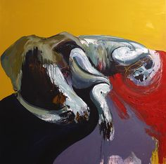Animal soñando.|Oil on canvas. 146cm x 146cm.|http://olasoluis.com/wp-content/uploads/2015/07/2014_03_g.jpg