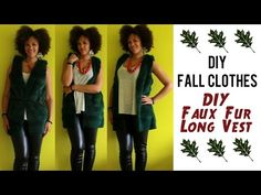 DIY Fall Clothes | How To Sew a Faux Fur Vest #sewing #tutorial #diy