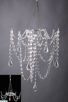 DIY Chandelier – cool website to shop for cool, crafty stuff - All About Decoration Inexpensive Home Decor, Diy Home Decor, Fun Crafts, Diy And Crafts, Diy Lampe, Diy Chandelier, Decorative Chandelier, Luxury Chandelier, Crystal Chandeliers