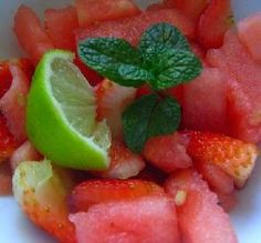 "Watermelon Salad With Lime Dressing: ""The combination of lime and mint really made the melon sing."" -IngridH"