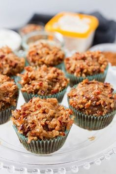 Old-Fashioned Oatmeal Cupcakes (vegan + gluten-free) - Eating Bird Food Oatmeal Cupcakes, Oatmeal Cake, Best Oatmeal, Gluten Free Oatmeal, Vegan Gluten Free, Gluten Free Recipes, Vegan Recipes, Dairy Free, Sweet Desserts