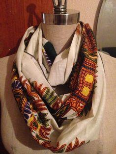 African Dashiki Print Infinity Scarf  by GoddessFashionFactry, $20.00