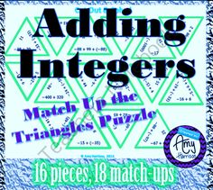 Adding Integers Triangle Puzzle #3 from Amy-Harrison on TeachersNotebook.com -  (24 pages)  - Are you looking for a fun way to practice adding integers?  Try this engaging puzzle.  I use it in my online classes, and share parts with students to print and do at home.  They love these puzzles!