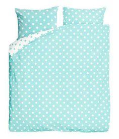 White Polka Dot Teal Turquoise Blue Duvet Cover Set #poachit