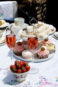 Champagne afternoon tea, is there anything nicer?...just need a masseuse, a restful B and B or a sandy beach condo...
