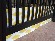 DIY crib skirt (Really need to hide our storage space under the crib. Planning on doing no sew with heat n bond, and velcro to attach. Awesomely simple.)
