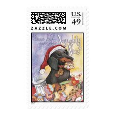 Naughty or Nice Doxie Postage