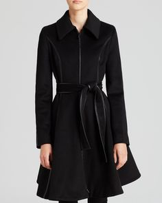 DL2 by Dawn Levy Coat - Fergie II Skirted Belted   Bloomingdale's $499