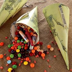 Trick or treat in style with these Skeleton Papercone (on sale for $6).