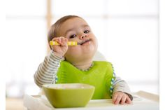 Happy infant baby boy spoon eats itself Starting Solid Foods, Childrens Meals, Baby Boy, Toddler Behavior, Baby Eating, Introducing Solids, Getting Hungry, Baby Development, Infant Activities