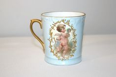 Antique T&V Porcelain Teacup Limoges France by SeacoastVintage