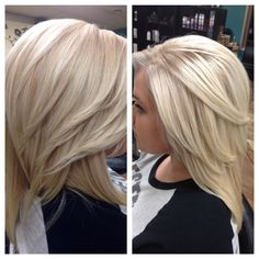 Beautiful icy blonde creates with Wella Professionals Special Blonde series.
