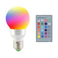 2016 New 7W RGB LED Bulb E27 85-265V RGB Lampada LED Light 220V 120V Led Spotlight Lamparas LED Lamp Spot Luz For Home Lighting
