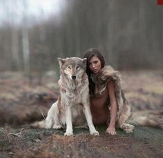 Gray Wolf and Lady Friend