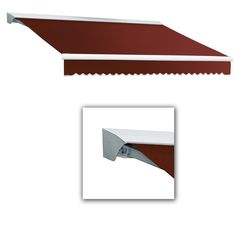 Beauty-Mark 12 ft. Destin-AT Model Manual Retractable Awning with Hood (120 in. Projection) in