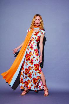 Flowers, long dress