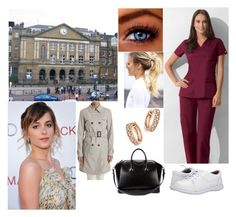 """""""(READ!!!) Talking to her friend Emily"""" by jackie-windsor ❤ liked on Polyvore featuring Nurse Mates, Bloomingdale's, Givenchy, Alexander McQueen and Herno"""