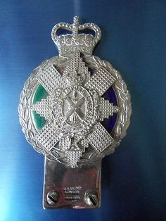 Black Watch Royal Highlanders Regiment MilitaryCar Badge Emblem Chrome & Enamel (03/05/2013)