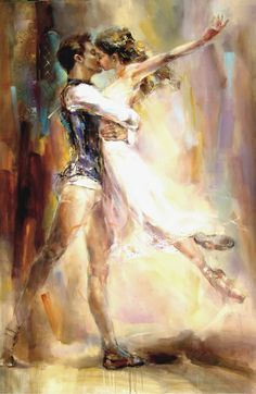 (Re-pinning with a good link) Anna Razumovskaya Love Story 2 painting ♥ www.thewonderfulworldofdance.com #ballet #dance