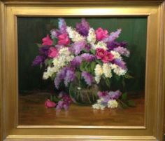 """""""Lilacs and Tulips"""" by Lu Haskew available through Columbine Gallery on Amazon Fine Art"""