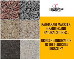 RadhaRani #Marbles, #Granites and #Natural #Stones... Bringing innovation to the flooring industry.