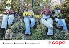 Eskimiş pantolonlarınızı bahçe dekorasyonunda değerlendirmeye ne dersiniz? #copa #copamayacaksiniz #coskunozradyator #sofben #radyator #Bursa #look #like #tbt #garden #bahce #dekorasyon