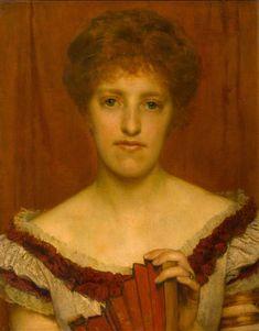 Portrait of My Wife ~ Lawrence Alma Tadema ~ (Dutch, 1836-1912)