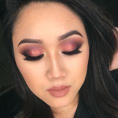 Fall glam eye makeup