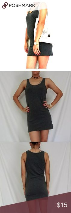 Gray Tank Dress - Gray Tank Dress - Size L / I usually wear a Small, so it runs small - Great to pair with leggings! Tops Tank Tops