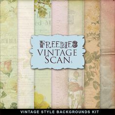 Freebies Vintage Style Backgrounds Kit