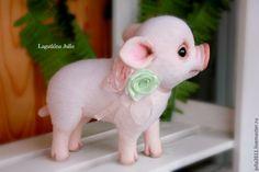 """Купить Поросёнок """"Зефирчик"""" - бледно-розовый, поросенок, поросята, хрюшка…"""