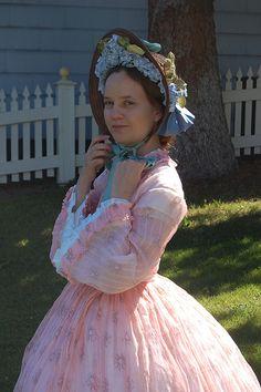 My Pink Sheer 1860s Dress