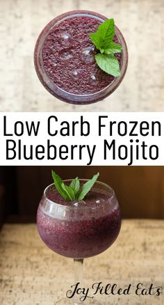 Low Carb Cocktails, Easy Summer Cocktails, Frozen Mojito, Frozen Drinks, Frozen Desserts, Blueberry Mojito, Nutritious Smoothies, Mojito Recipe, Get Thin