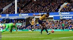 Everton 0 Arsenal 2 : DannyWelbeck scored his fourth goal in nine games since returning from injury