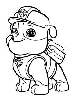 the paw patrol team colouring pages page 2