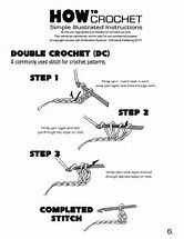 Resultado de imagen de free printable crochet stitch guide