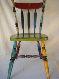 RESERVEDShabby Handpainted ChairSOLD please don't door lemonadestore