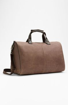 On-the-go must have: soft, leather duffel by Boconi.