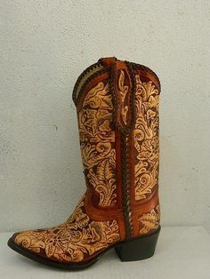 Hand Tooled Cowboy Boot Made To Order