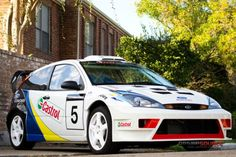 In the years shortly after Ford released the first-generation Focus here in the United States, enthusiasts found that it was possible to convert the front-wheel Ford Focus Svt, Focus Rs, Thing 1, Car Tuning, First Car, Car Ford, Rally Car, Road Racing, Mk1